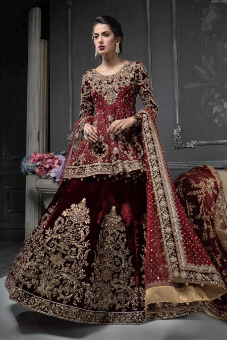 Mbroidered Wedding Dresses 2020 By Maria B Top Hit Fashion,Traditional Indian Wedding Guest Dresses For Girls